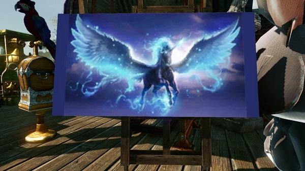 7月27日夢の絵冥王の天馬