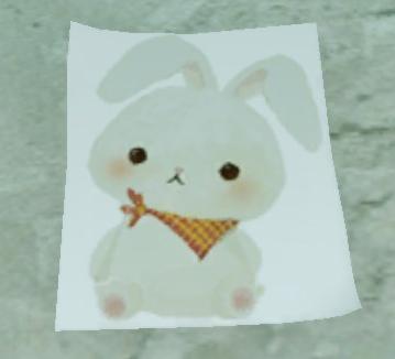 8月1日スカーフを巻いたウサギ