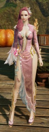8月31日ロータスドレス薄朱の桜色2