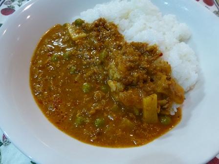 印度風牛ひき肉のキーマカレー4
