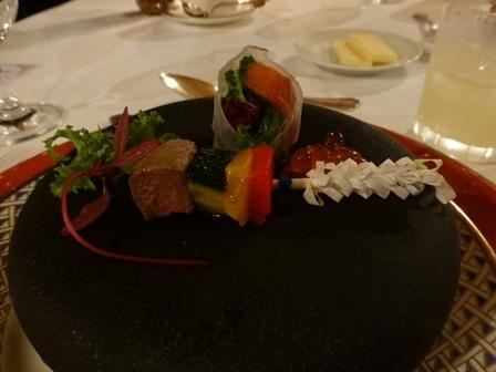 ホテル川久夕食12