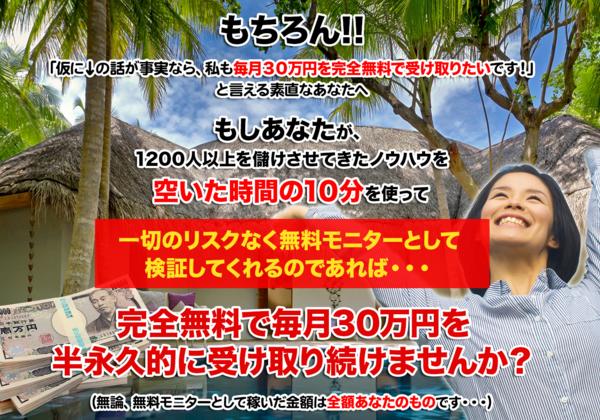金田晢の完全無料で毎月30万円画像