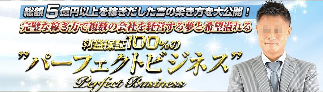 利益保証100%のパーフェクトビジネス画像