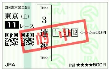 【的中馬券】160507東京11(競馬 万馬券 的中)