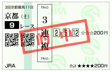 【的中馬券】160528京都9(競馬 万馬券 的中)