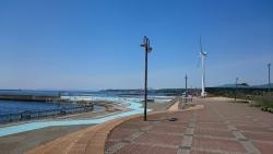 室蘭港を眺めながら