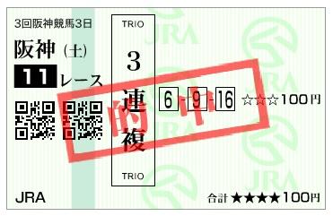【的中馬券】160611東京10(競馬 万馬券 的中)