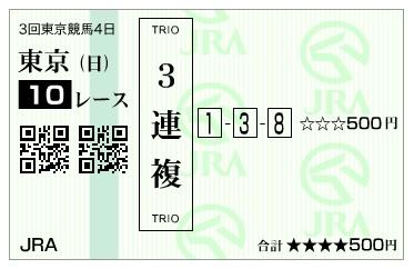 【馬券】160612東京10(競馬 万馬券 的中)