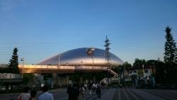 夕暮れの札幌ドーム