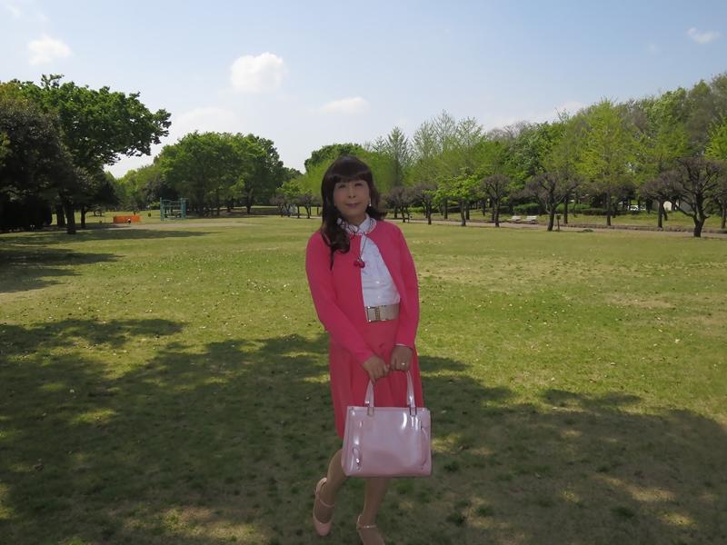 ピンクカーデピンクフレアスカート(5)