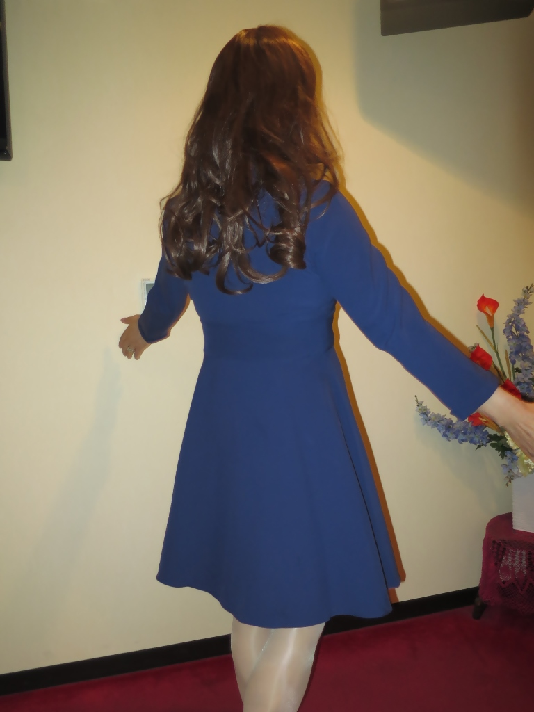 紺のフレアーワンピA(6)