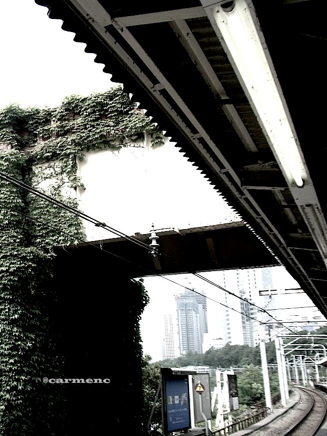 駅ホーム 市ヶ谷