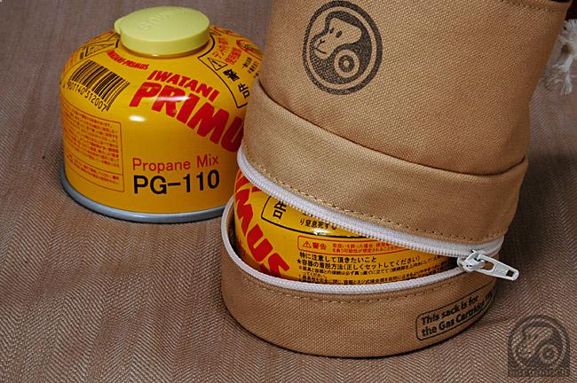 ガスカートリッジ 収納袋 サルパウチ 帆布 110 オピネル#8 sarupouch お猿の頬袋