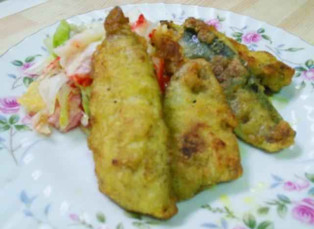 秋刀魚のフリッターカレー味
