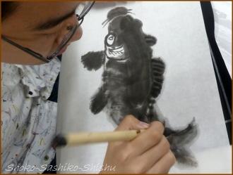 20160803  鯉  3  水墨画