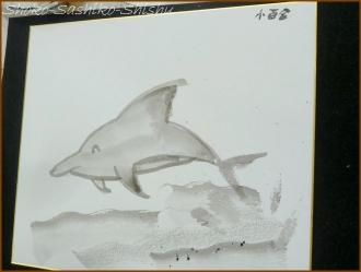 20160803  色紙  1  水墨画