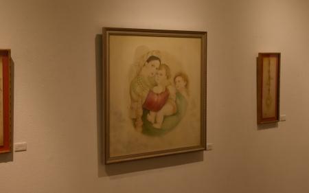 子椅子の聖母 模写
