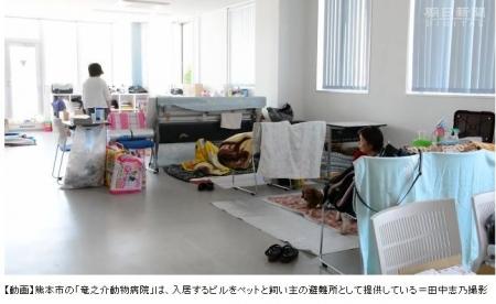 熊本地震同行避難