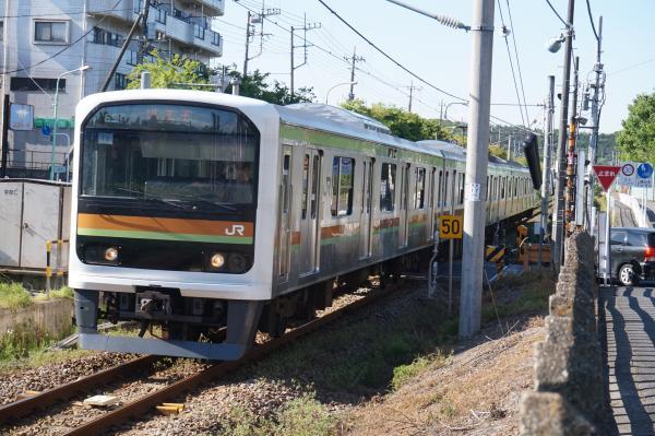 2016-04-29 八高線209系ハエ72編成 八王子行き