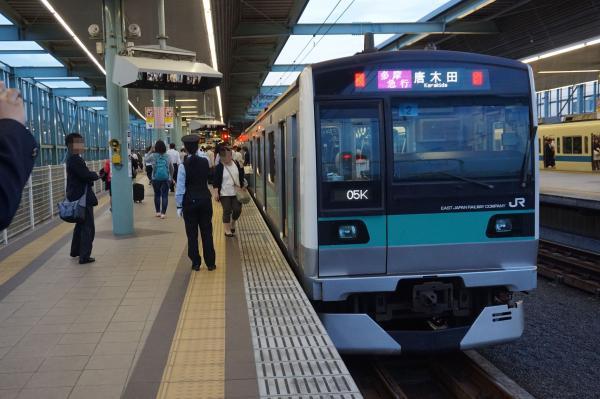 2016-05-22 常磐線E233系マト2編成 多摩急行唐木田行き2