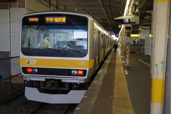2016-07-30 総武線E231系ミツB17編成 三鷹行き