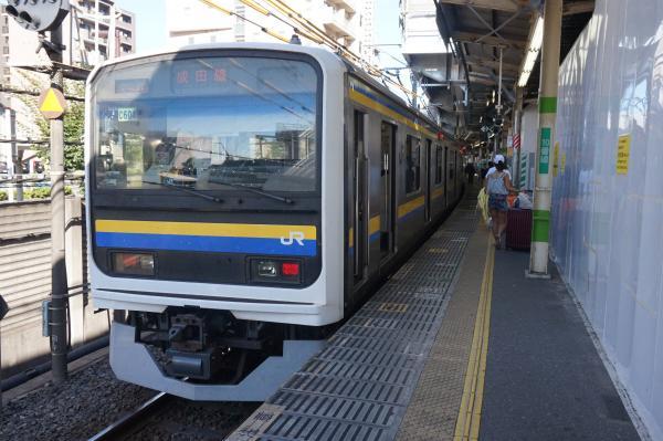 2016-07-30 房総地区209系マリC604編成 成田空港行き