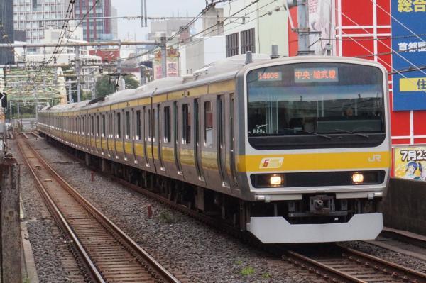 2016-09-21 総武線E231系ミツB82編成 千葉行き1