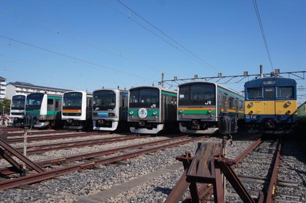2016-10-15 Mue-train ハエ119 ハエ63 Z2 ハエ28 ヤマY12 クモヤ143 1