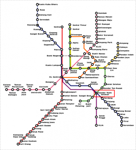 KL train map