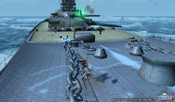 甲板へ乗り込み、兵装を破壊!