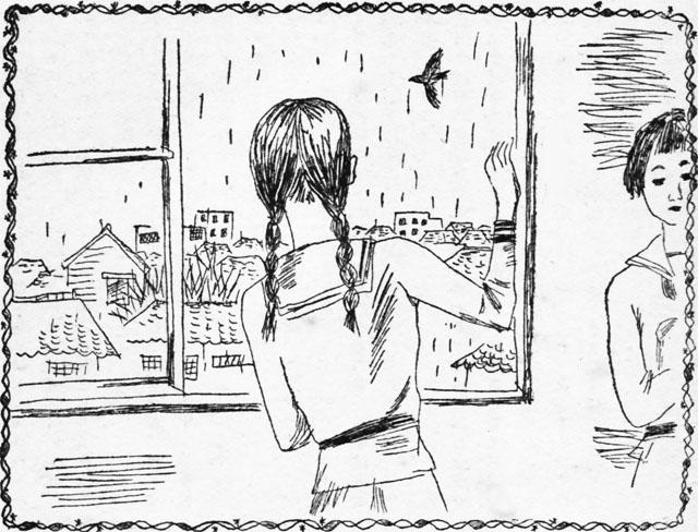 黒板ロマンス・雨の降る日1939mar