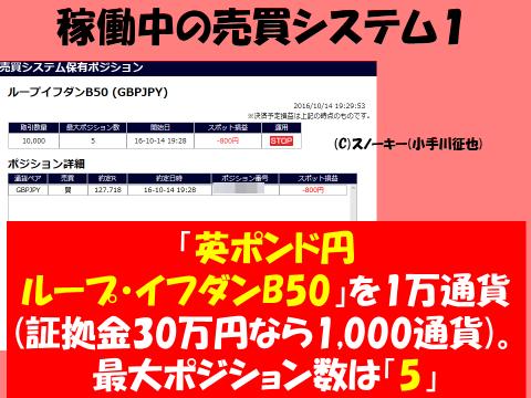 20161113【デモ】ループ・イフダン検証ブログ稼働中売買システム英ポンド円