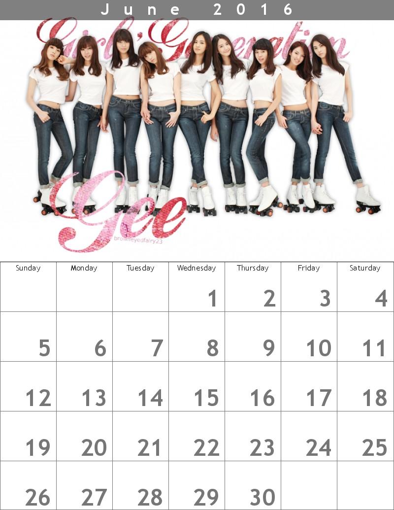 少女時代カレンダー