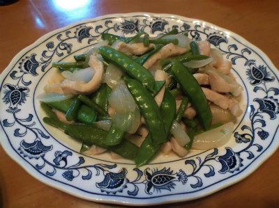 5.7鶏胸と新者野菜炒め