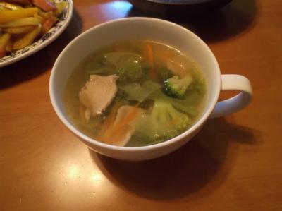 5.8ブロッコリーとレタスの中華スープ