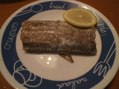 5.15太刀魚のバター焼き