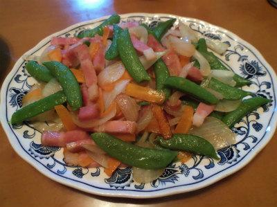 5.16春野菜とベーコン炒め