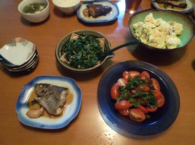 6.29畑の野菜100%の夕食