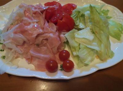 7.11ハムと生野菜