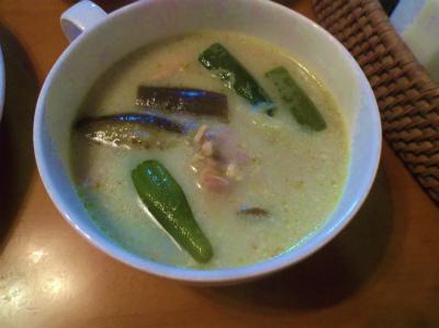 8.7グリーンカレースープ
