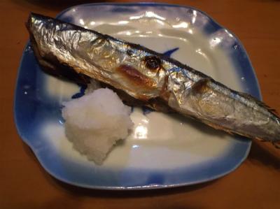 9.5秋刀魚の塩焼き