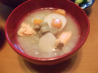 9.8根菜の塩麹汁