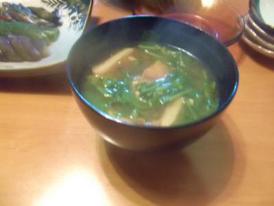 9.10大根菜の味噌汁