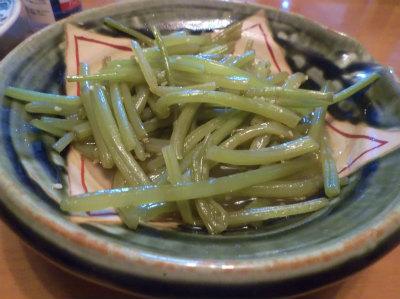 9.18サツマイモの茎のキンピラ