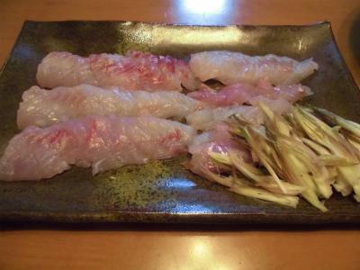 10.8鯛の刺身
