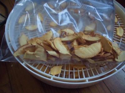 10.10リンゴチップ出来上がり