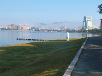 10.15霧に霞む松江の街