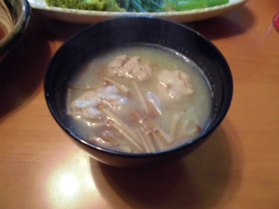 10.31鯵団子の味噌汁