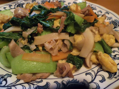 11.6高菜の炒め物
