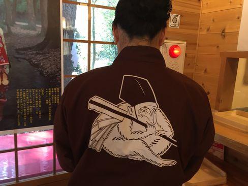下鴨神社・申屋(さるや)の店員_H28.03.03撮影
